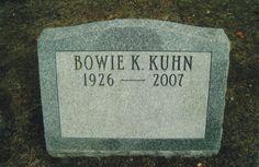 Bowie Kuhn (1926 - 2007) Former commissioner of Major League Baseball