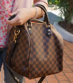 Louis Vuitton Damier Ebene Speedy 30 Bandouliere bag handheld