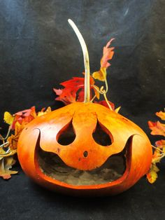 Halloween Gourd Trick or Treat Candy Dish by KaoriKreations, $26.00