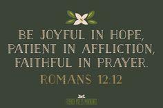 French Press Mornings Print - Romans 12:12 #encouragingwednesdays #fcwednesdaywisdom #quotes