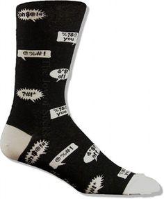 Bleepin' words socks.