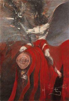 Manifestation of Azrael artist: Denis Forkas Kostromitin Arte Horror, Horror Art, Dark Fantasy Art, Dark Art, Illustration Art, Illustrations, Beauty In Art, Arte Obscura, Macabre Art