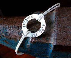 Latitude and Longitude Coordinates Bracelet  <3 for when the love of my life is overseas.