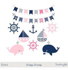 Chica gráfico náutica mar partido Imágenes por Pravokrugulnik