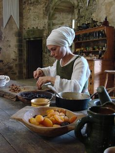 Medieval kitchen This gives me an idea.. Maybe I create  an costume and persona for a Herbalist? just a though for Scarborough fair.