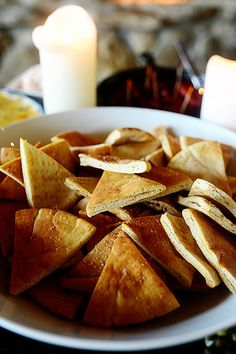 Salted Pita Chips by Ree Drummond / The Pioneer Woman, via Flickr