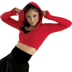 Must have! Hooded Crop Top for $21.95 on Dancewear Solutions!