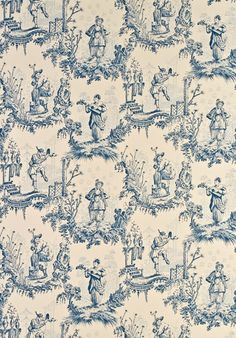 Chinese Toile Fabrics from our Toile de Jouy & Damask range