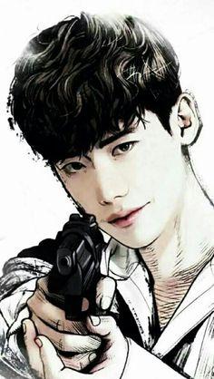 Lee Jong Suk W-two worlds Lee Jong Suk Cute, Lee Jung Suk, W Two Worlds Art, W Two Worlds Wallpaper, L Kpop, W Korean Drama, Lee Jong Suk Wallpaper, Kang Chul, Han Hyo Joo