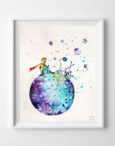 The Little Prince Print Watercolor Art Type 3 Art by InkistPrints
