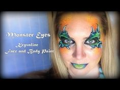Monster Eyes Using Kryvaline Face and Body Paint - YouTube