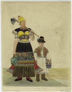 One of hundreds of thousands of free digital items from The New York Public Library. Folk Costume, Costumes, New York Public Library, My Heritage, Folklore, Vintage Images, Hungary, Old Things, Culture