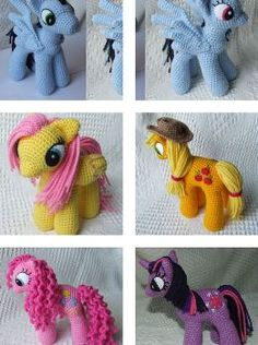 "[Free Pattern] Cute Ponies For Kids Who Love ""My Little Pony"""