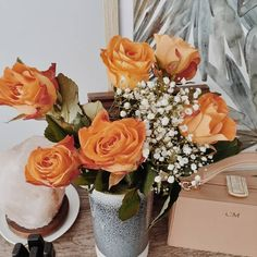 """@a.life.by.carly: """"I buy flowers for myself because a certain someone else hasn't gotten the hint 🌹🌹🌹 . #orangeroses…"""""""