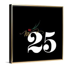 Countdown to Christmas with the Christmas No. 25 art print by Lindsay Letters.
