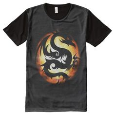Dragon Burst All-Over-Print T-Shirt - click/tap to personalize and buy