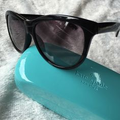 Kate Spade sunglasses Brand new black frame sunglasses, comes with case. NO TRADES kate spade Accessories Sunglasses