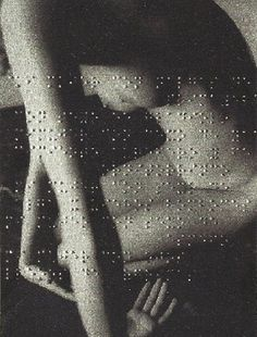   sensual on so many levels. beautiful.    Union Libre by Léon Ferrari, 2004 (poem by André Breton embossed in Braille on a photograph)
