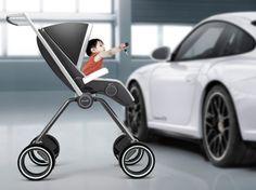 Porsche P'4911 Stroller (Korea)  #Pushchair #Stroller #Design #Porsche