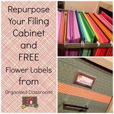 Repurpose That Old Filing Cabinet! - The Organized Classroom Blog