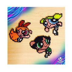 The Powerpuff Girls perler beads by nanayan518