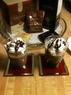 Organo Gold Cafe' Mocha, Yummy dessert in cup ! Mocha Frappuccino, Best Coffee, Coffee Time, Coffee Recipes, Mochi, Delicious Desserts, Sweet Treats, Just For You, Chocolate