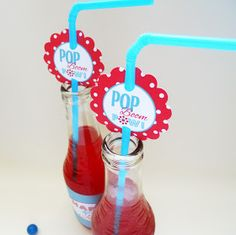 Delightfully Noted: Fourth of July Printables:Festive Soda Labels & Straw Tags