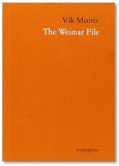 "The Weimar File. Photographs by Vik Muniz.  Ivory Press, 2013. 240 pp., black  white illustrations, 4¼x6""."