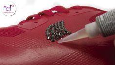 Cómo decorar tus #zapatillas con #swarovski strass hotfix