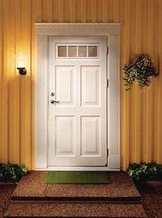 Ytterdörr Ascot 300 i massiv ek Exterior Doors, Interior And Exterior, Entrance Doors, Garage Doors, 1920s House, Painted Front Doors, Ascot, Tall Cabinet Storage, Windows