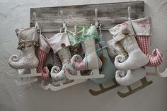Weihnachtdekoration im Kinderzimmer und ein Rezept, flammende Herzen (Shabby Chic Christmas Ornaments)