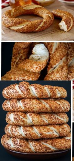 Simites, Turkish bagels - All About Cooking Gadgets, Cooking Recipes, Bread Recipes, Bread Bun, Bread And Pastries, Snacks, Bread Baking, Coffee Cake, Breakfast Recipes