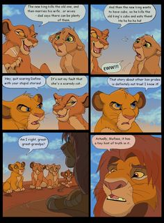 And here's the 2nd page. Yeah, Simba is a great-great-grandfather here. He's around 20 years old... Male lions don't usually live longer than 10 years in the wild, but I guess they have a great hea...