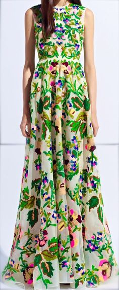 Valentino spring collection 2014  | кутюр платье Valentino | Vestido de Valentino