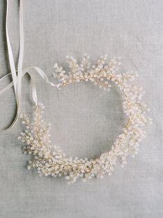 Bridal Crown Crystal Astilbe Flower Crown por MelindaRoseDesign