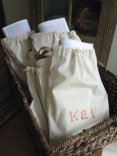 DIY: Sew Personalized Drawstring Bag
