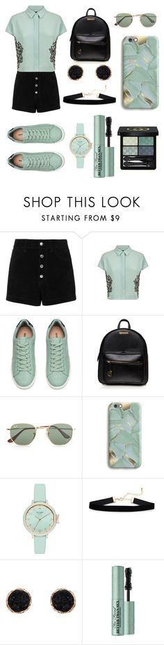 """""""Feeling Blue"""" by thatbadash on Polyvore featuring rag & bone/JEAN, Jaeger, Ray-Ban, Harper & Blake, Kate Spade, Humble Chic, Too Faced Cosmetics and Gucci"""
