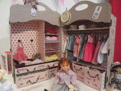 cartonnage armoire poupées