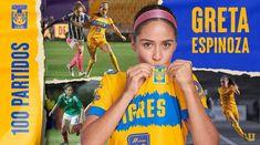"""Greta Espinoza on Instagram: """"Muy feliz de cumplir mi partido número 100 portando esta playera, por muchos más peleando por este escudo💪🏻🐯"""" Instagram, Happy, Coat Of Arms, Meet"""