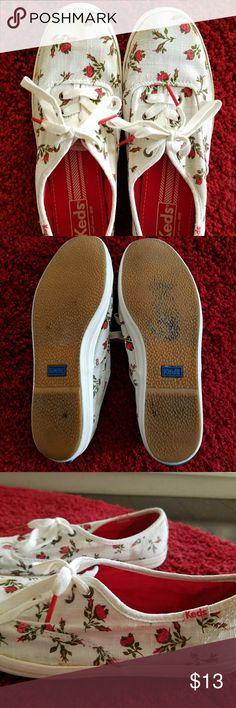 Keds ⚘ Size 7  Keds  Rose pattern ⚘ Keds Shoes