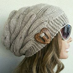 Check out this item in my Etsy shop https://www.etsy.com/listing/259279587/womens-hat-slouchy-buttoned-hat-slouchy