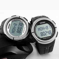 Feature: Alarm; Feature: Back Light; Feature: Chronograph; Feature: Complete Calendar; Feature: Heart Rate Monitor; Feature: LED display; Feature: Stop Watch; Feature: Water Resistant; Gender: Men; Style: Sport; Movement: Digital; Shell material: Resin; Watch Window Material: Resin; Dial Material: Stainless Steel; Display mode: Digital; Dial Diameter: 36MM; Case Shape: Round; Band Material Type: Rubber; Band Width: 20mm to 29mm; WatchBand Length: 260MM; Water Resistance Depth: 50m
