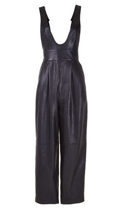 Tibi - Anesia Leather Overalls