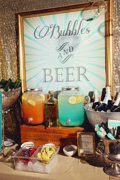 Bubbly and Beer - Crafted Drink Stations - 2015 Wedding Trends and Ideas