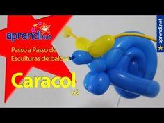 Aprendi.net: Esculturas de balões - Caracol