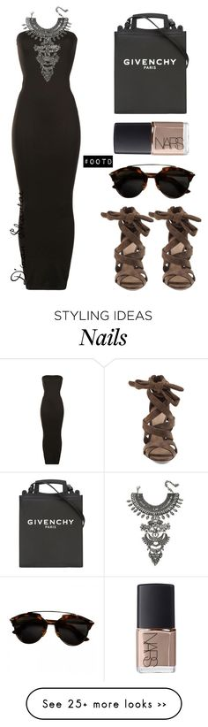 """#OOTD - Wolford Dress, Dylanlex Necklace"" by adswil on Polyvore featuring Givenchy, Wolford, DYLANLEX, NARS Cosmetics and Schutz"
