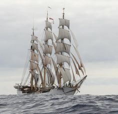 Old Tall Ships | The Danmark, a 76-year-old tall ship