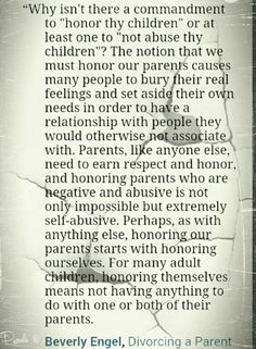 Exactly! You can't expect loyalty and respect (even from your child) if you've never earned it!