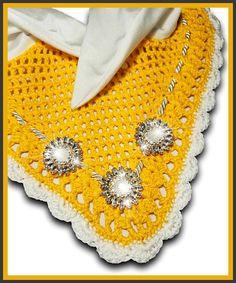 Yellow Fly Bonnet Ear Net Horse/Full