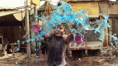 Lifestyle in India, Holi Festival. Flowers Water for Good Vibes.